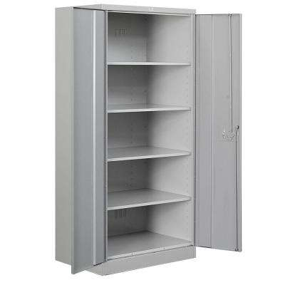 36 in. W x 78 in. H x 18 in. D 4-Shelf Heavy Duty Metal Standard Assembled Storage Cabinet in Gray