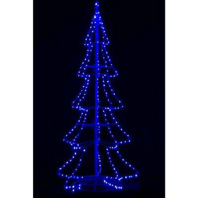 8 ft. Pre-Lit LED 3D Silhouette Tree with 300 Blue Lights