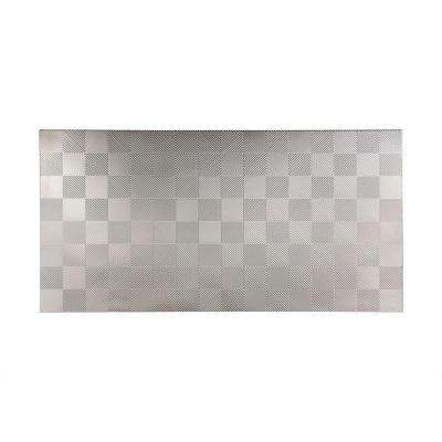 96 in. x 48 in. Quattro Decorative Wall Panel in Brushed Aluminum