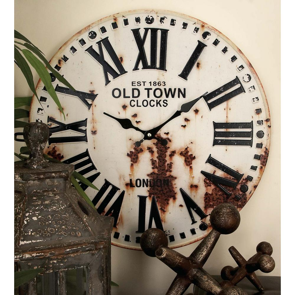 Rustic station clock and license plate wall clock in distressed null rustic station clock and license plate wall clock in distressed iron 2 pack amipublicfo Gallery