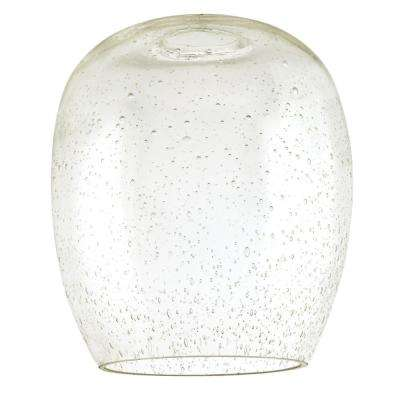 7-1/8 in. Seeded Glass Barrel Shade with 2-1/4 in. Fitter and 6-1/4 in. Width
