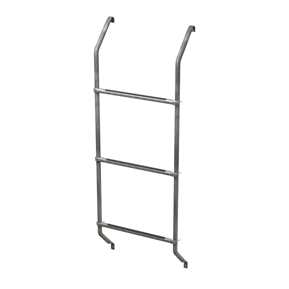 Ultra Protect 3-Step Galvanized Steel Basement Window Well Egress Escape Ladder