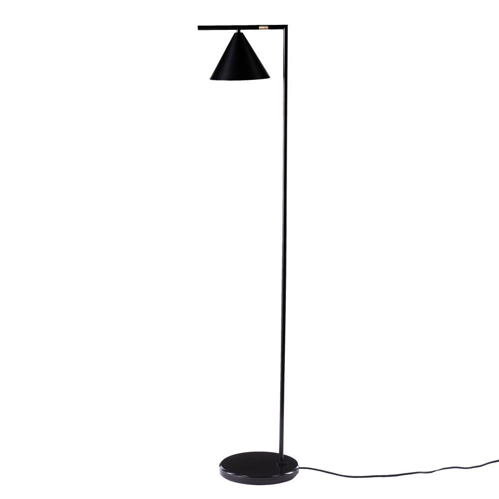 Juna 61 in. Black Floor Lamp