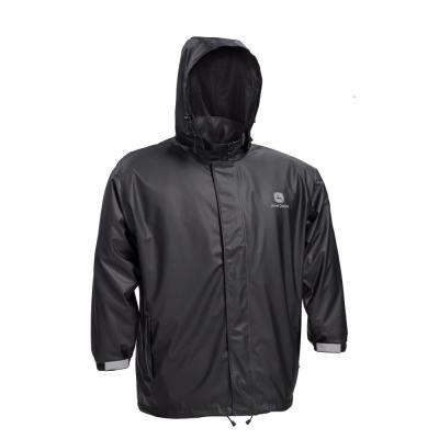 Premium Black Stretch Rain Jacket Size Large