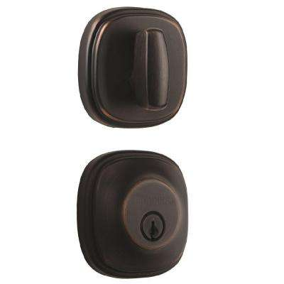 Weldon Single Cylinder Tuscan Bronze Push Pull Rotate Deadbolt  sc 1 st  The Home Depot : tuscan door hardware - Pezcame.Com