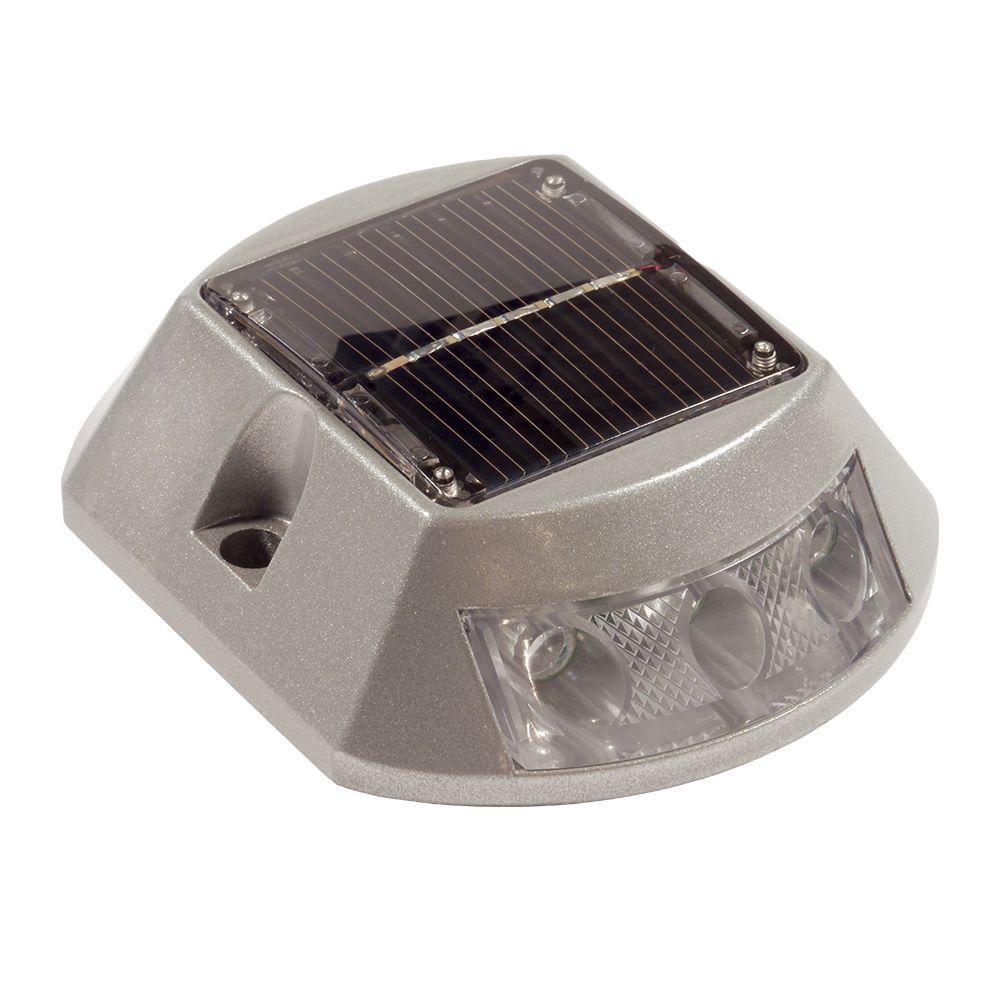 Dimex SolarCap Surface Mount Solar LED Paver, Landscape, Marine, Deck Light in White
