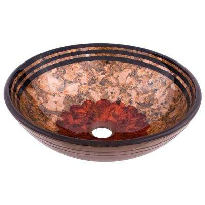 Tappezzeria Glass Vessel Sink in Hand Painted Multicolor