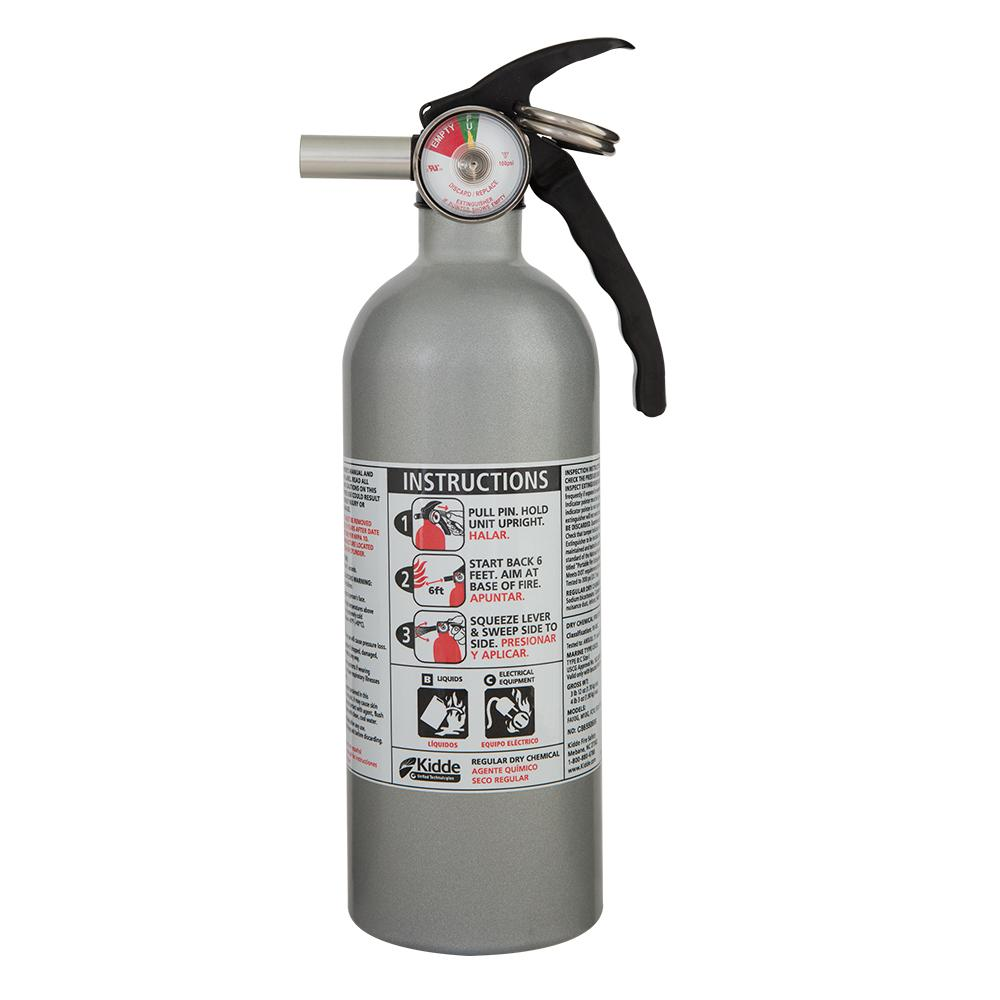 Kidde 5 B C Automobile Dry Powder Fire Extinguisher 21006287mtl The Home Depot