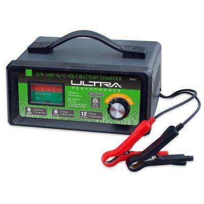 2/6 Amp 6/12-Volt Manual Battery Charger