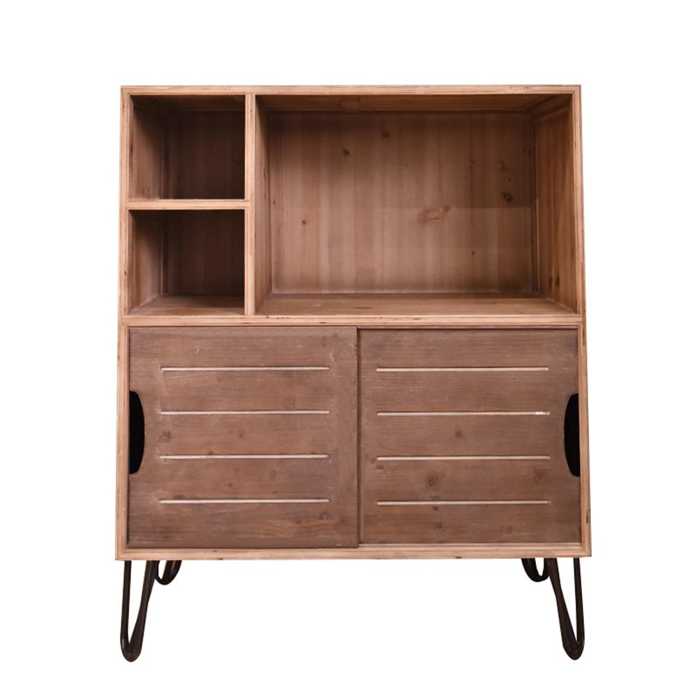 Brown Wood Storage Cabinet