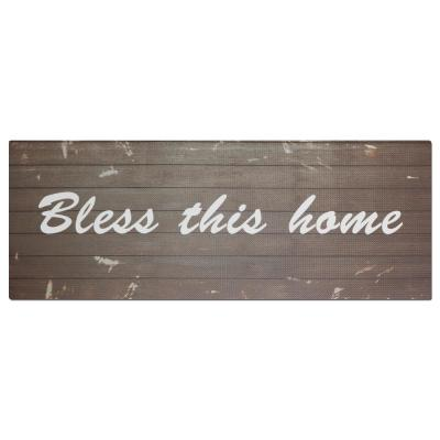 Comfort Chef Bless This Home 19.6 in. x 55 in. Anti-Fatigue Kitchen Mat