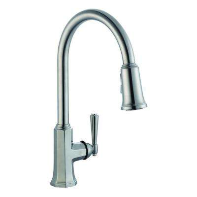 Barcelona Single-Handle Pull-Out Sprayer Kitchen Faucet in Satin Nickel
