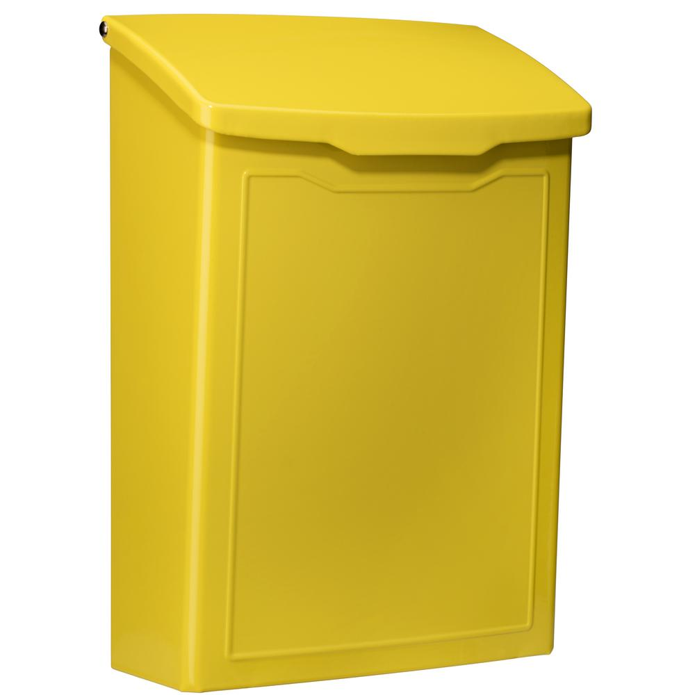 Architectural Mailboxes Marina Yellow Wall Mount Mailbox
