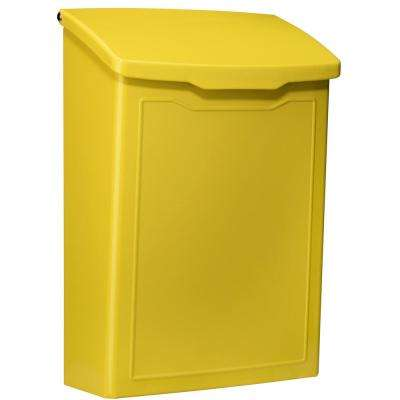 Marina Yellow Wall Mount Mailbox