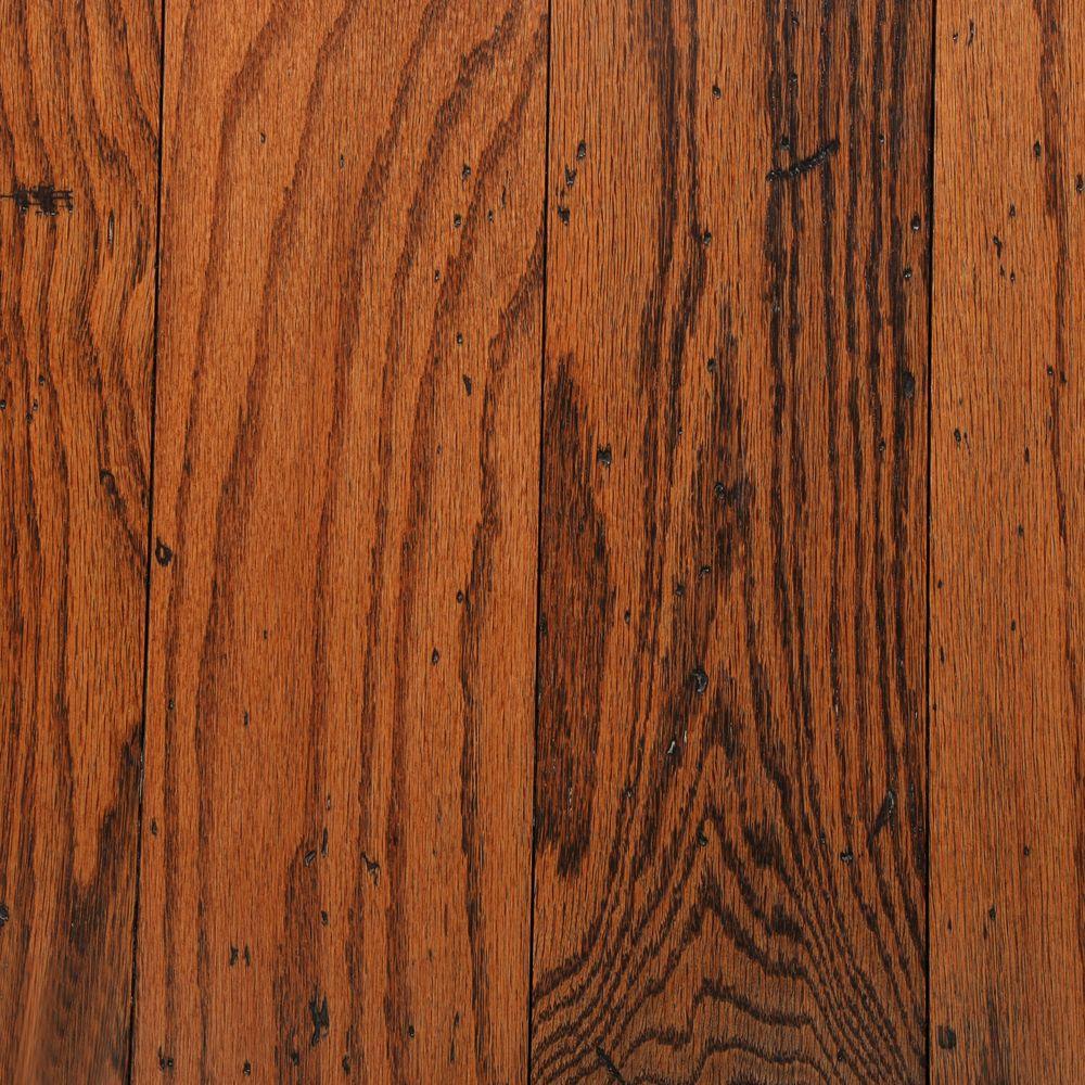 Distressed Oak Gunstock 3/8 in. T x 5 in. W x Random Length Engineered Hardwood Flooring (25 sq. ft./case)