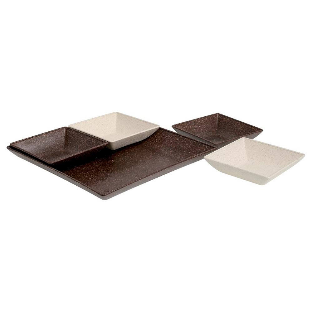 EVO Sustainable Goods Dark Brown Eco-Friendly Wood-Plastic Composite Serving