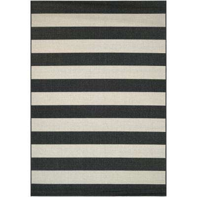 Afuera Yacht Club Onyx-Ivory 7 ft. x 10 ft. Indoor/Outdoor Area Rug