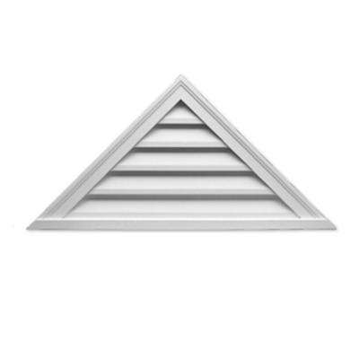 60 in. x 25 in. x 2 in. Polyurethane Functional Triangle Louver Gable Vent