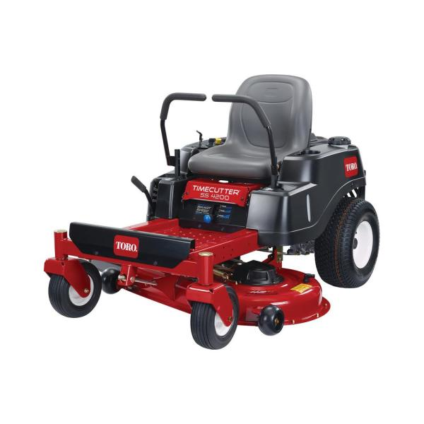 Toro Timecutter Ss4200 42 In 452cc Gas Dual Hydrostatic Zero Turn Riding Mower With Smart Speed 74711 The Home Depot