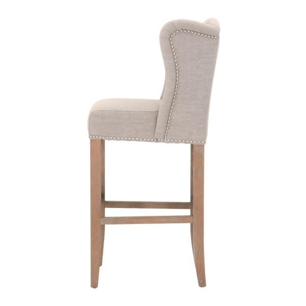 59ff10db0721e2 Home Decorators Collection Madelyn 31.25 in. Tan Cushioned Bar Stool ...