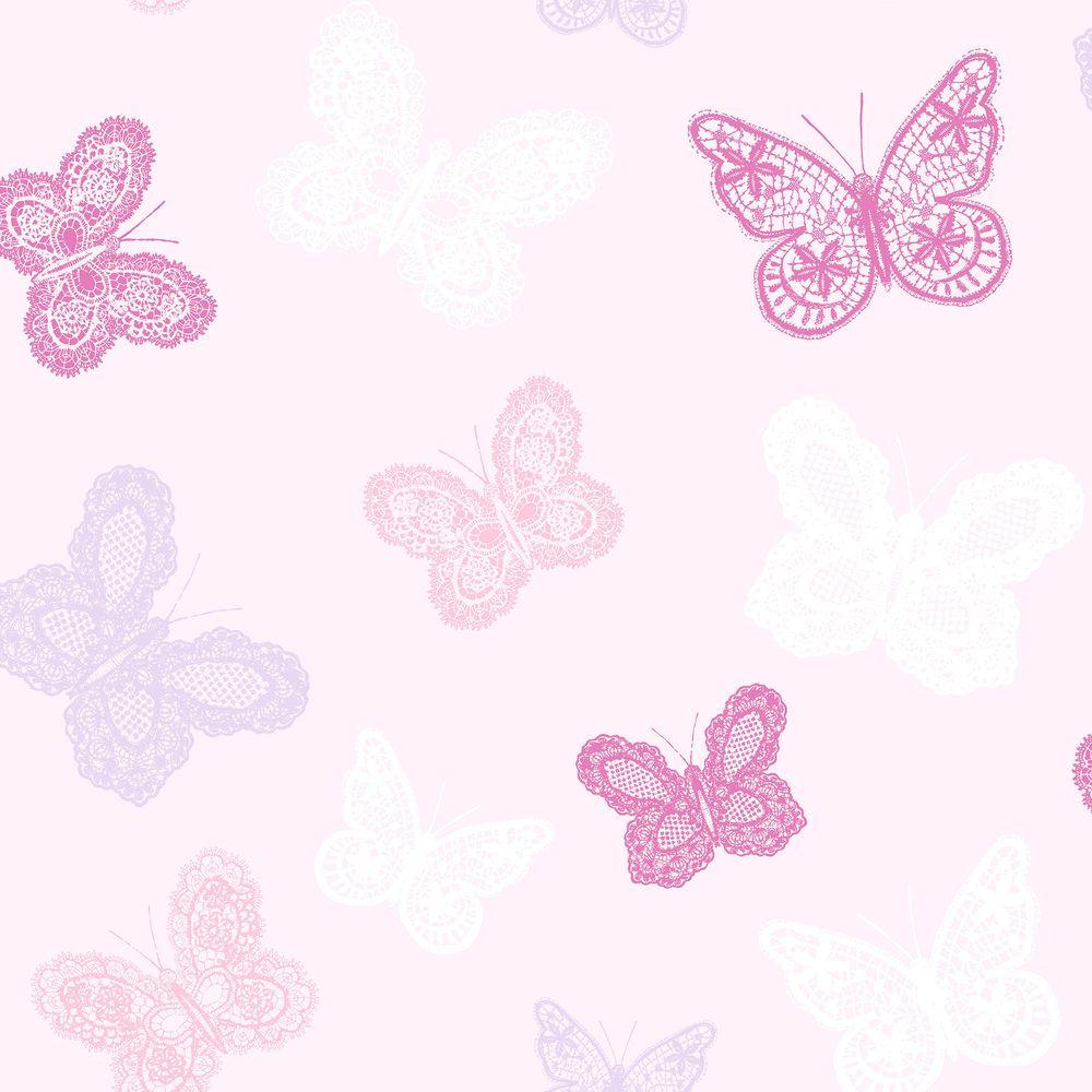 graham brown pink butterfly wallpaper 100114 the home depot