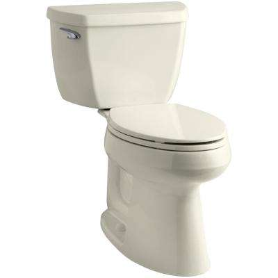 Highline Classic the Complete Solution 2-Piece 1.28 GPF Single Flush Elongated Toilet in Biscuit, Seat Included