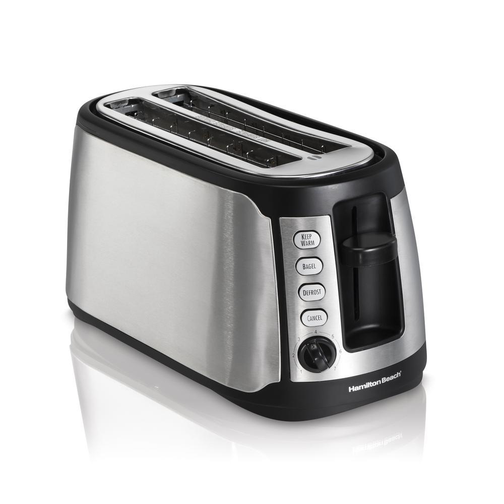 4-Slice Black Long Slot Toaster
