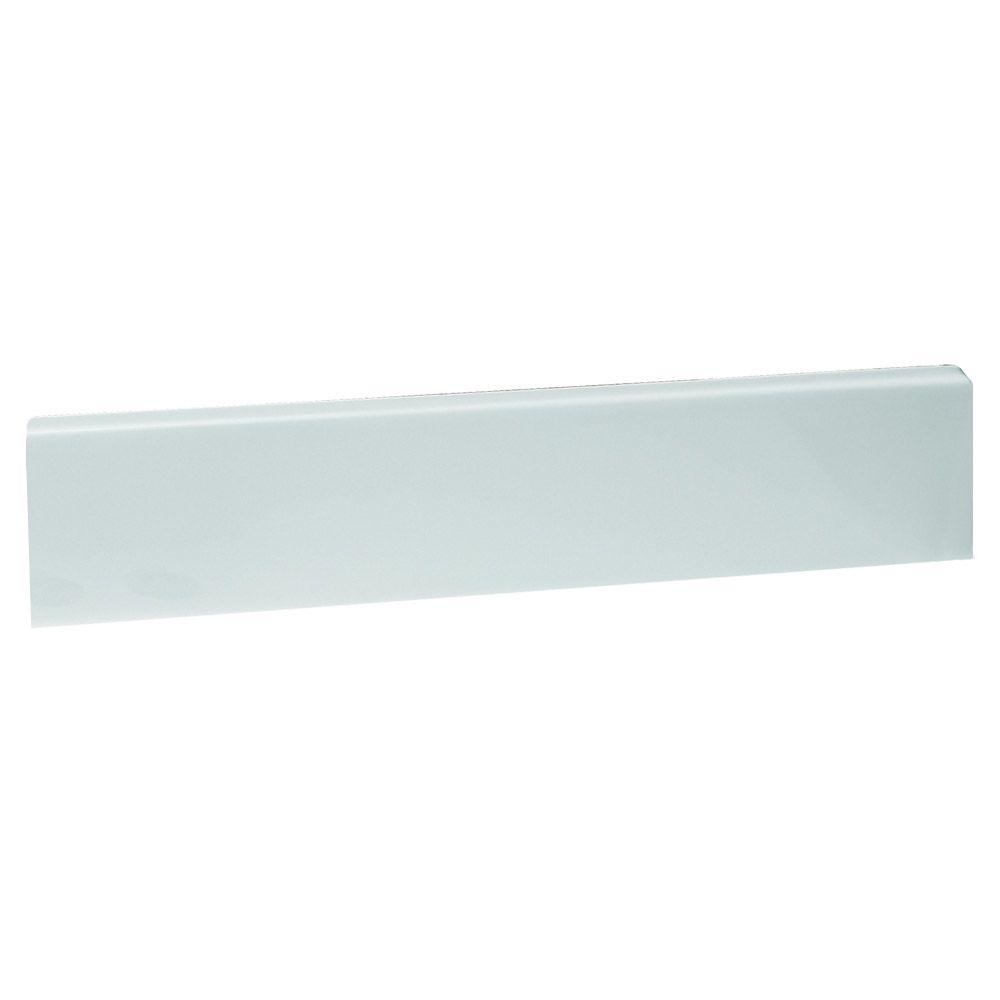 21-1/5 in. Cultured Marble Universal Sidesplash in Solid White