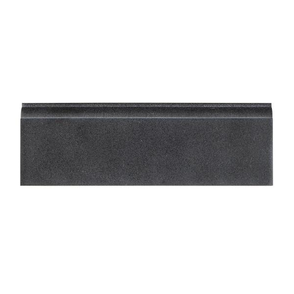 Basalt Gray 4 in. x 12 in. Honed Basalt Wall Base Tile (1 Linear Foot)
