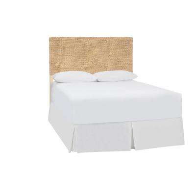 Caspian Natural Wood and Seagrass King Headboard (79.13 in W. X 55.91 in H.)