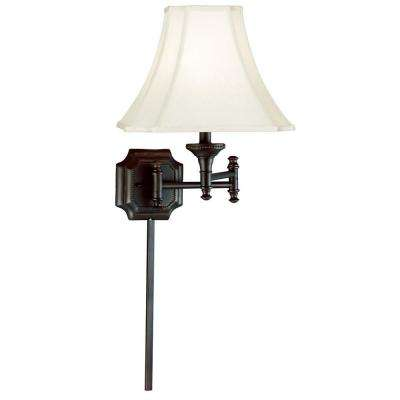 Wentworth 17 in. Burnished Bronze Wall Swing Arm Lamp