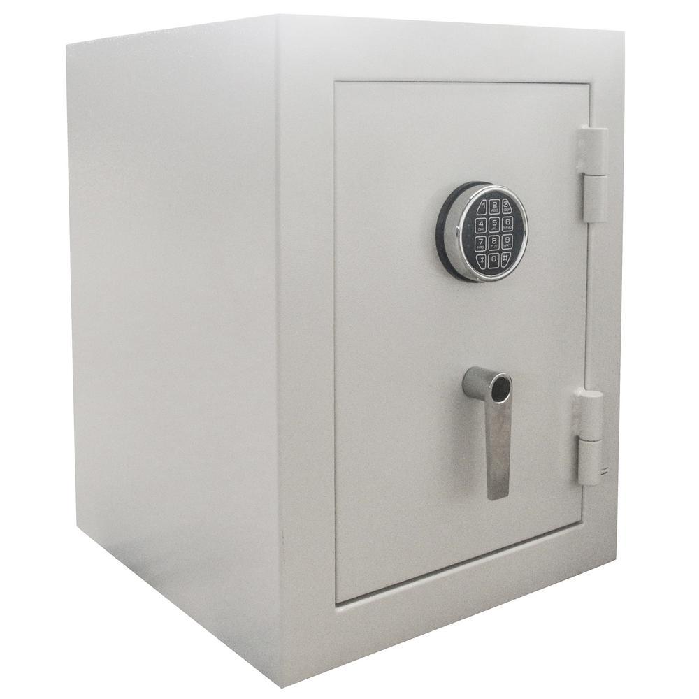BUFFALO 3 32 cu  ft  Steel Jewelry Wall Safe with Electronic Lock Beige