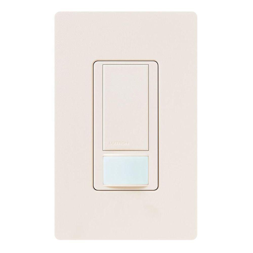 Maestro Vacancy Sensor switch, 5-Amp, Single-Pole or Multi-Location, Eggshell