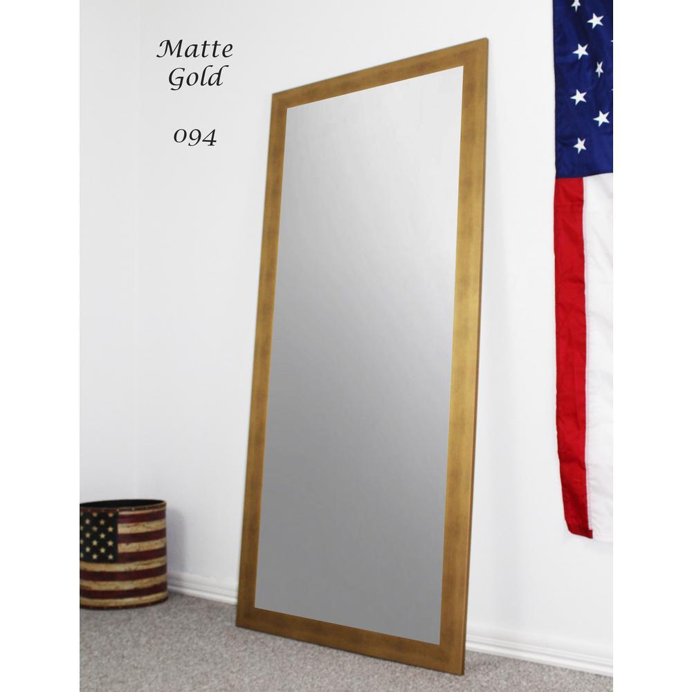 63.5 in. x 25.5 in. Matte Gold Full Body/Floor Length Vanity Mirror