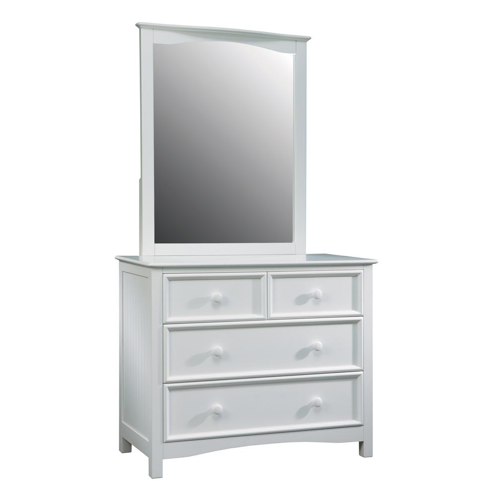 Wakefield 4 drawer white dresser and mirror set 801470500 the home depot