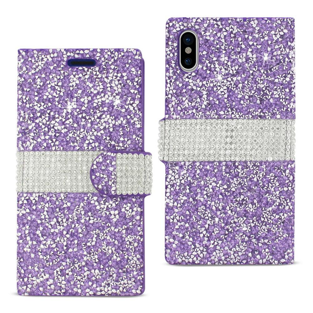 online store 4dc73 e326d REIKO iPhone X Rhinestone Case in Purple