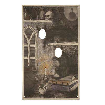 72.75 in. Halloween Photo Banner Cat