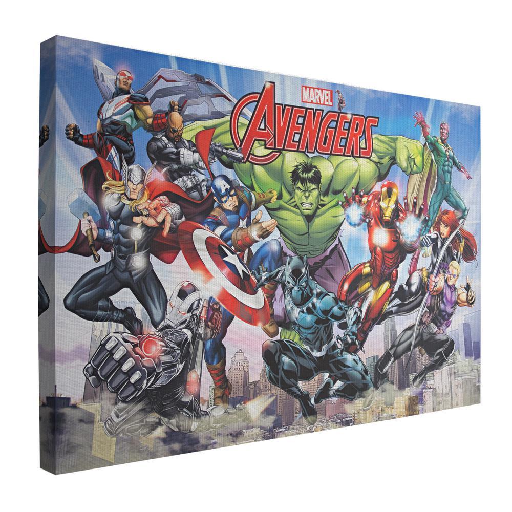 Art  CANVAS PRINT The Avengers Iron Man war Home Wall Decor Captain America12x18