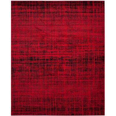 Adirondack Red/Black 9 ft. x 12 ft. Area Rug