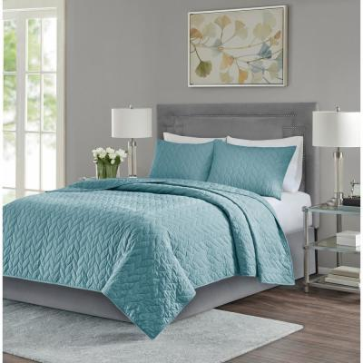 Addie 3-Piece Teal King/Cal King Reversible Coverlet Set