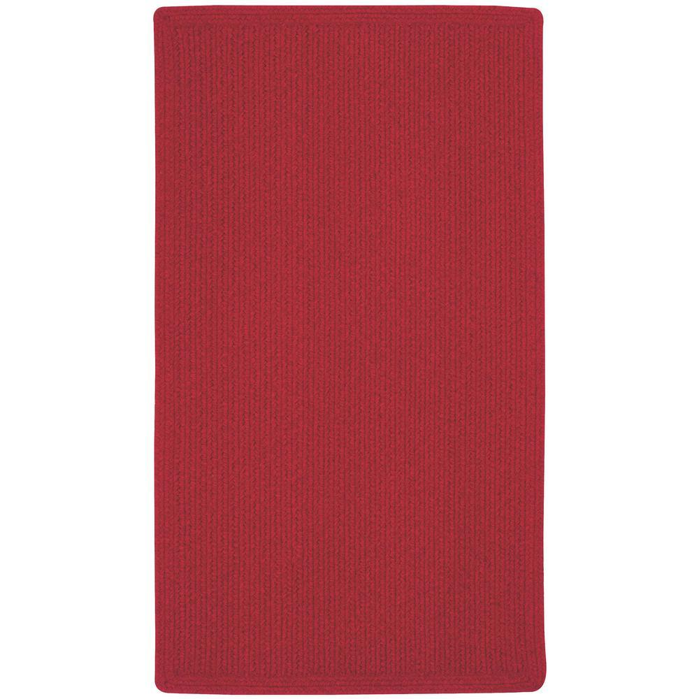 Manteo Vertical Stripe Dark Red 5 ft. x 8 ft. Area Rug
