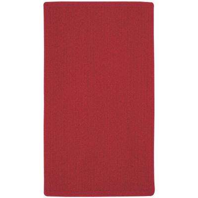 Manteo Vertical Stripe Dark Red 11 ft. 4 in. x 14 ft. 4 in. Area Rug