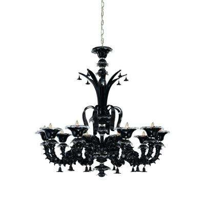 Orillia Collection 10-Light Chrome Hanging Chandelier