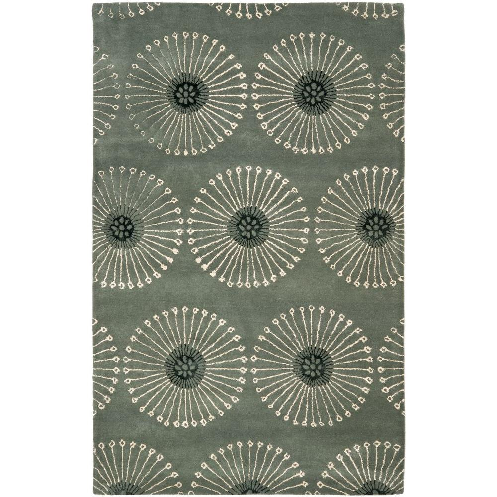 Safavieh Soho Grey/Ivory 3 ft. 6 in. x 5 ft. 6 in. Area Rug