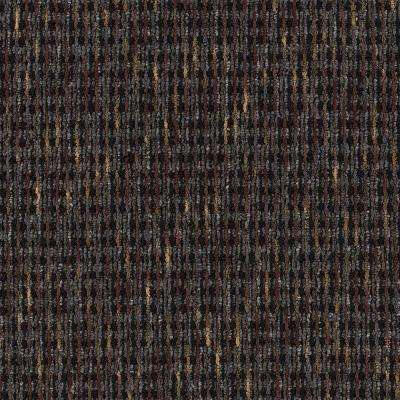 Carpet Sample - Social Network III - Color Charcoal 8 in. x 8 in.