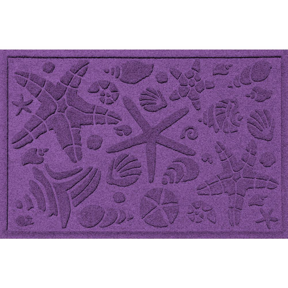 Purple 24 in. x 36 in. Beachcomber Polypropylene Door Mat