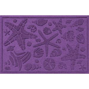 Aqua Shield Purple 24 inch x 36 inch Beachcomber Polypropylene Door Mat by Aqua Shield