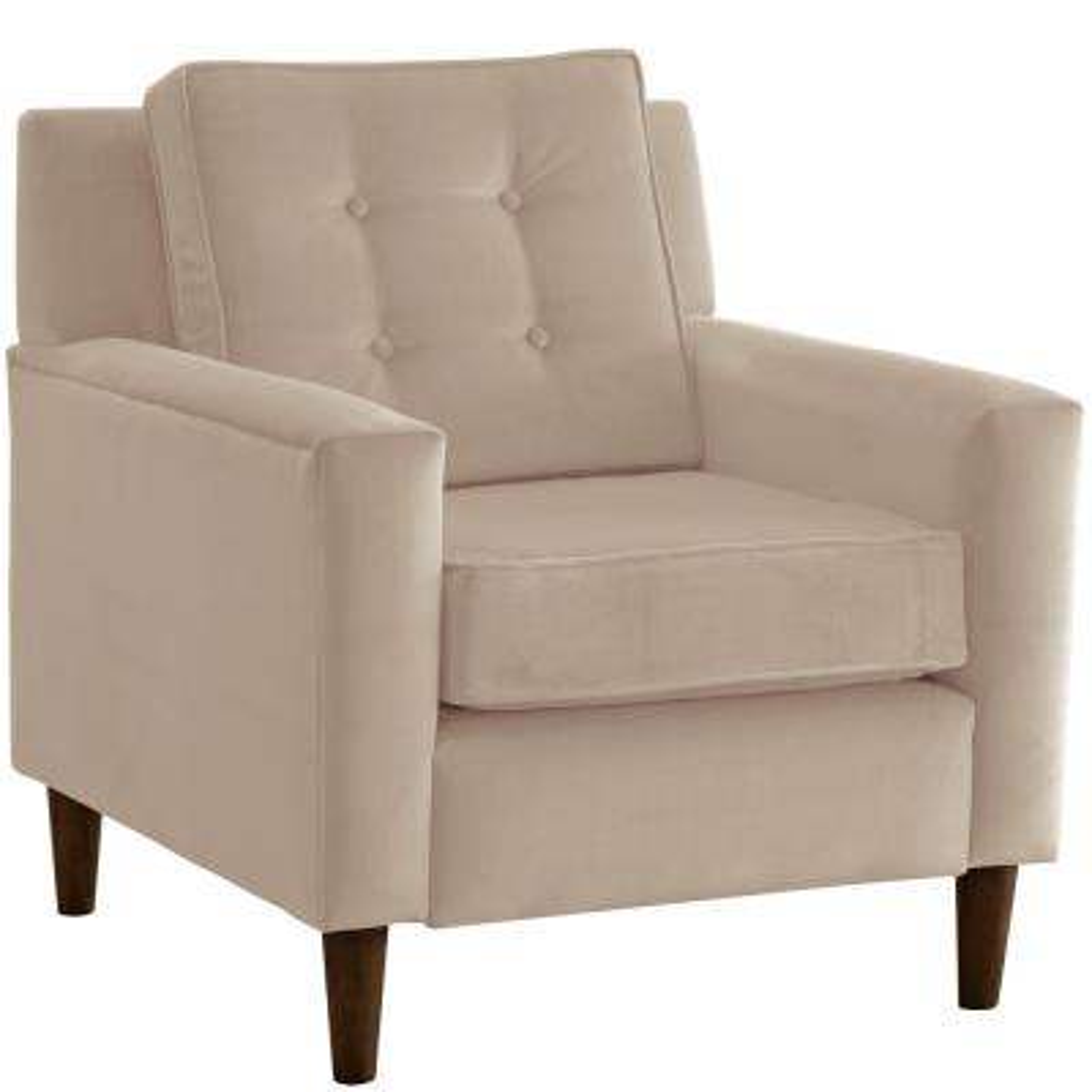 Velvet Buckwheat Arm Chair
