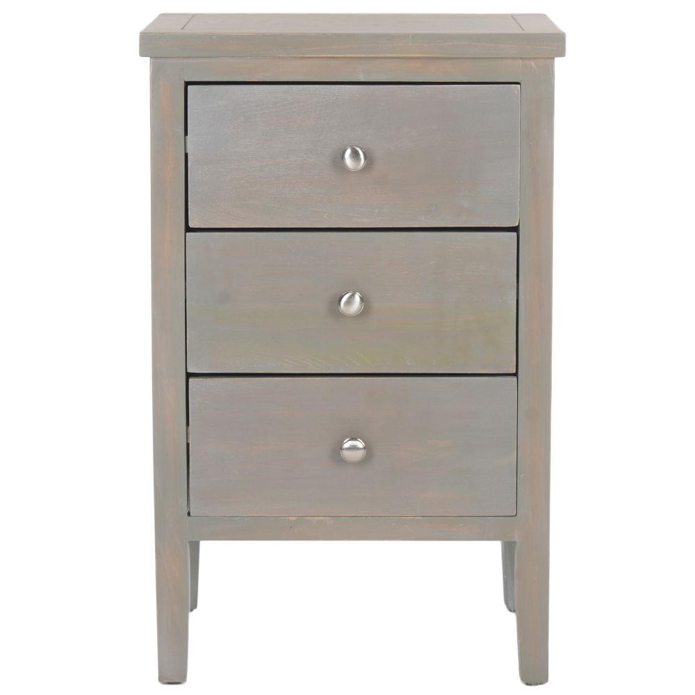 Safavieh Deniz French Grey Storage End Table
