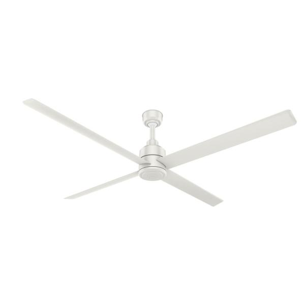 Trak 96 in. Indoor/Outdoor Fresh White Commercial Ceiling Fan with Wall Control